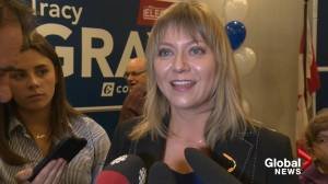 Tracy Gray's raw interview after victory speech