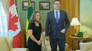 Freeland meets with Saskatchewan's Moe while Trudeau meets with N.L.'s Ball