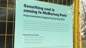 City of Kingston start improvements at McBurney Park (01:19)