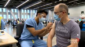 Generation Xers flock to Quebec COVID-19 vaccination centres (02:05)