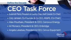 Alberta's top business leaders looking for big ideas to 'Define the Decade' (02:32)