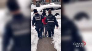 Montreal man launches legal action over police intervention caught on camera (01:59)