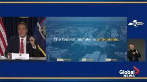 Coronavirus: NY Gov. Cuomo calls federal response to COVID-19 'a mistake' (01:06)