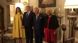 Donald and Melania Trump meet Prince Charles and Camilla in London