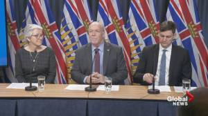 Premier Horgan announces ICBC changes at press conference (03:40)