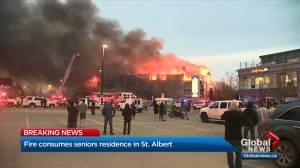 Fire consumes Citadel Mews West seniors centre fire in St. Albert (03:57)