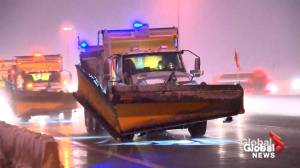 Salt trucks out on highways as GTA hit with winter storm