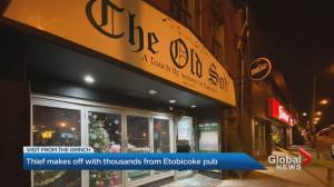 Thief makes off with thousands from popular Etobicoke pub right before Christmas (02:14)