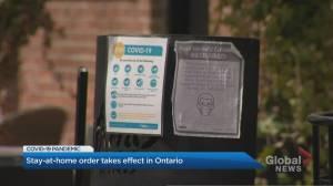 Four week stay-at-home order begins in Ontario (02:26)