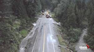 Drone video of Trans-Canada Highway flood repair in B.C.