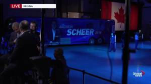 Federal Election 2019: Scheer campaign bus parked inside Conservative headquarters
