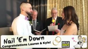 Couple married at Kitchener radio station