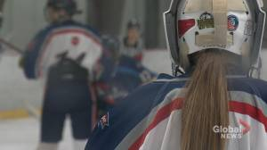 Ava Drabyk carving out her own niche in boys hockey (02:00)
