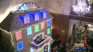 20-foot gingerbread house unveiled at Edmonton hotel