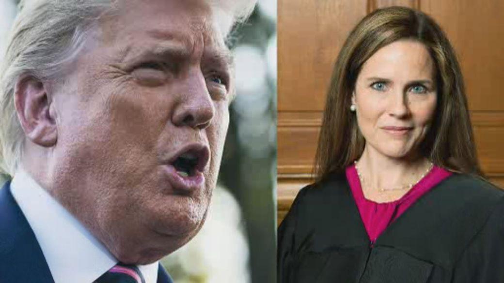 Click to play video 'Trump nominates Amy Coney Barrett for U.S. Supreme Court'