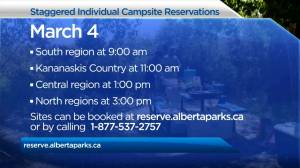 Alberta Parks prepares for online camping reservations to begin March 4 (01:56)