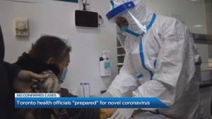 Toronto health officials 'prepared' for coronavirus