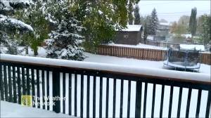 Southern Alberta sees early snowfall