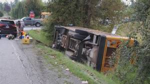 Bus full of farm workers crashes in Abbotsford
