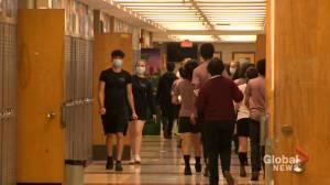 Quebec children heading back to school to wear masks (02:50)