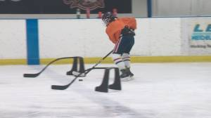 COVID:19 Alberta minor hockey players return to the ice (01:38)