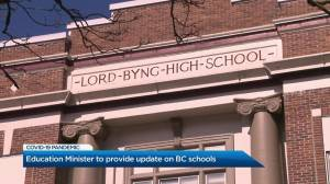 B.C. education minister to provide update on schools