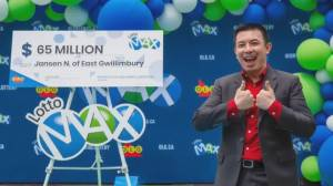York Region man who won $65M looking to use money for 'good' (02:32)