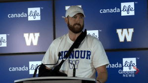 Matt Nichols speaks to media after his season-ending injury