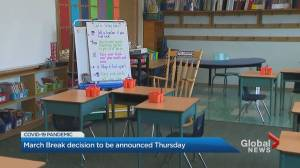 Ontario government decision on March Break to be announced Thursday (02:32)