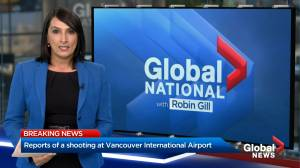Shooting at Vancouver's International Airport: reports (00:26)