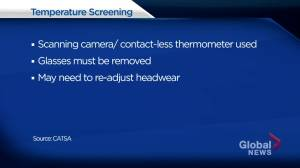 Mandatory temperature screening now underway at Calgary International Airport