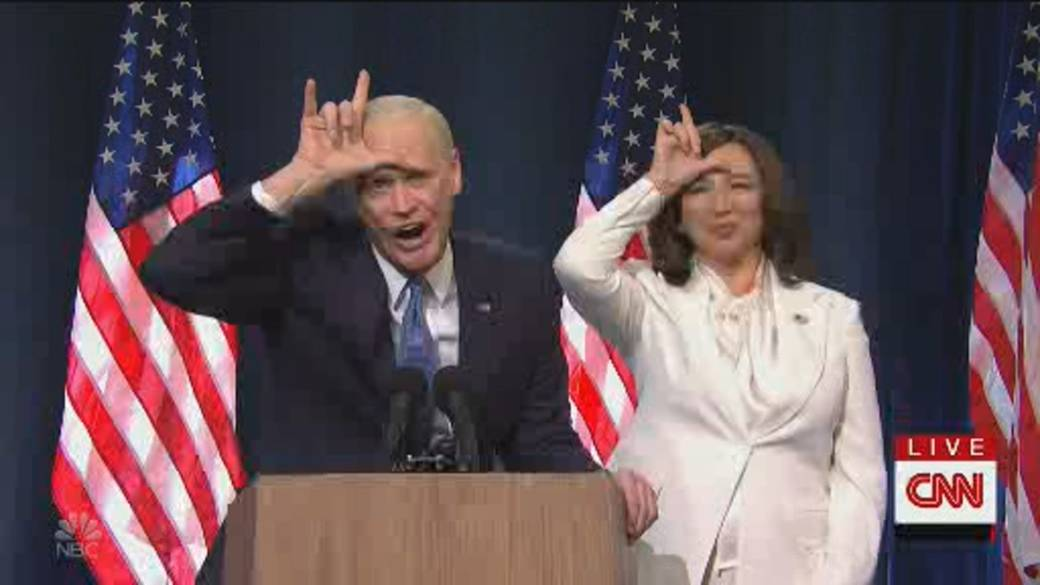 Click to play video 'SNL cold open skit plays up Biden's presidential victory, Trump's loss'