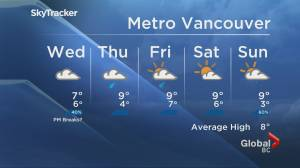 B.C. evening weather forecast: Nov. 24 (01:39)