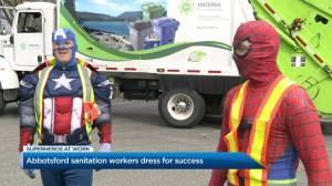 Abbotsford sanitation workers dress as superheroes
