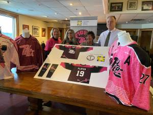 Jerseys unveiled for 11th annual Pink in the Rink