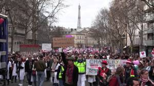 Hundreds of healthcare workers in France take to the streets to protest for better conditions, more money