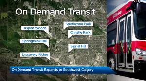 Calgary adds on-demand transit in 6 communities (02:09)
