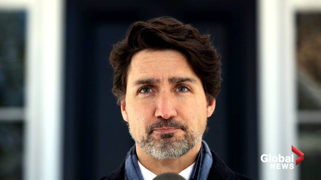 Click to play video 'Coronavirus: Ipsos poll finds Trudeau support not enough to win him majority'
