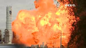 Videos capture moment of second explosion at Texas plant