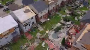 Residents of Barrie, Ontario say they feel lucky to have survived powerful tornado (02:36)