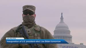 Inauguration of U.S. president-elect Joe Biden on Wednesday (04:54)