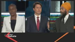 Federal leaders' debate: Paul calls for more diversity in politics as Singh, Trudeau spar over MMIWG (02:28)
