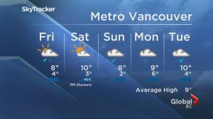 B.C. evening weather forecast: Nov. 12 (02:04)