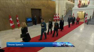 Throne Speech: Usher leads procession into Senate chamber