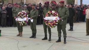 Hundreds of mourners gather in Tripoli for funeral of Libyan soldiers