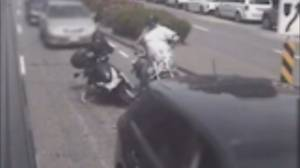 Video captures road rage incident involving motorcyclist