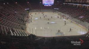 N.B. sport, performing art venues gearing up for 'green' (01:57)