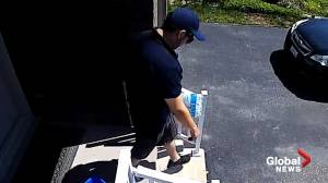 Waterloo police release video of suspected porch pirate