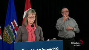 Hinshaw assures Albertans there are enough ICU beds for COVID-19 (01:46)
