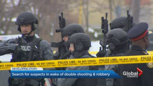 2 people shot during mid-morning robbery inside North York moving company